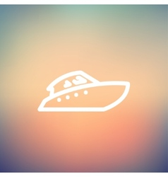 Speedboat thin line icon vector