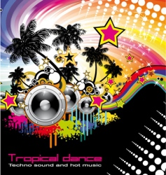 tropical dance music flyer vector image vector image