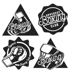 Vintage boxing emblems vector