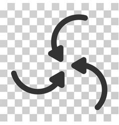Vortex arrows icon vector