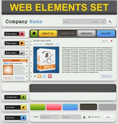 Web design elements set vector image vector image
