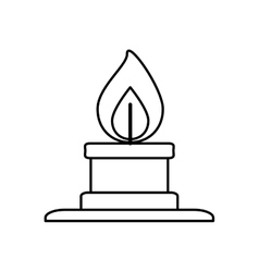 Bunsen burner flame vector