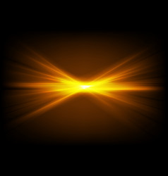 Bright shiny orange glowing laser beams vector