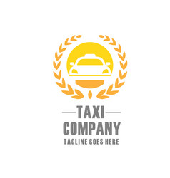 elegant and modern taxi logo vector image