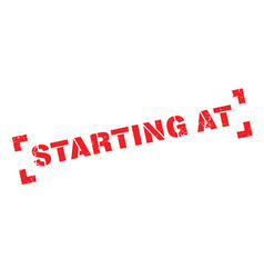 starting at rubber stamp vector image