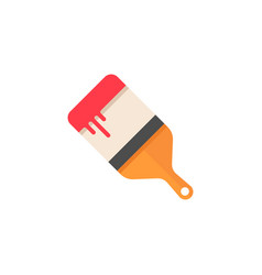 Paint brush flat icon build repair elements vector