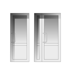 set of doors vector image