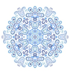 Beautiful paisley circle ornament vector image