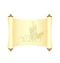 Charles bridge manuscript 01 vector