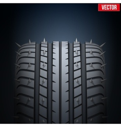 Realistic rubber tires and spikes banner vector