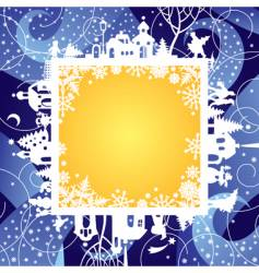 Christmas & New Year's frame vector image