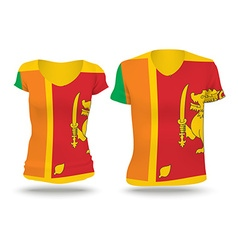 Flag shirt design of sri lanka vector