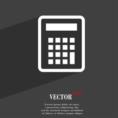 Calculator icon symbol flat modern web design with vector
