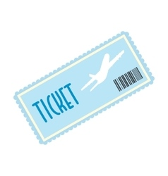 Airplane ticket flat icon vector