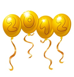 2012 new year balloons vector