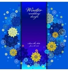 Wedding snowflakes wreath frame design Winter vector image