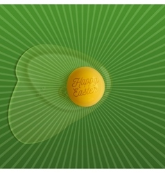 Happy easter realistic raw egg banner vector