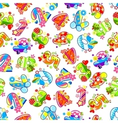 Decorative childish numbers seamless pattern vector