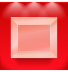 Transparent glass showcase vector