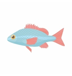 Fish carp icon cartoon style vector