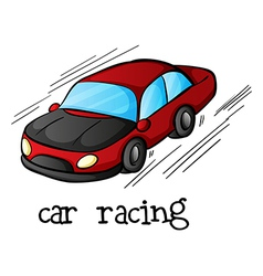 A car racing vector