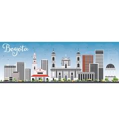 Bogota skyline with gray buildings and blue sky vector