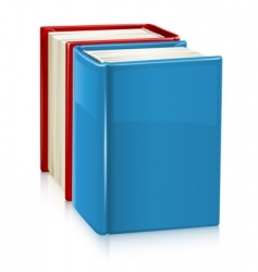 books with hard cover vector image vector image