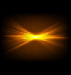 Bright shiny orange glowing laser beams vector