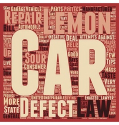 Car lemon laws you don t have to live with a sour vector