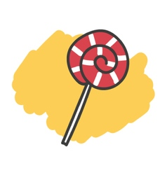 Cartoon doodle lollipop vector image