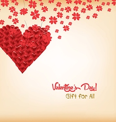 Dandelion hearts greeting card vector