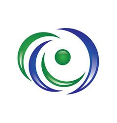 eye logo vector image vector image