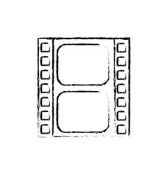 Figure filmstrip to studio scene in projection vector