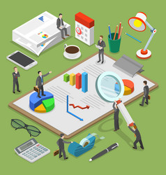 financial audit flat isometric concept vector image