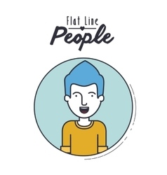 flat line people design vector image