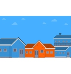 Flat of house on city vector