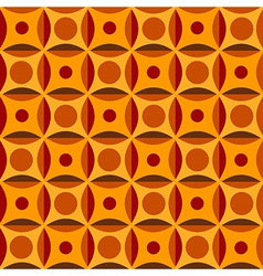 Geometrical pattern in orange colors vector image vector image