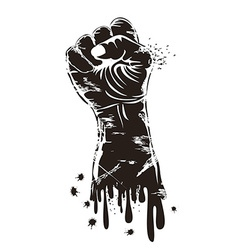 grungy fist power vector image vector image