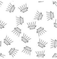 House heating seamless pattern vector