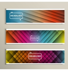 lines on a colored background Set banners vector image