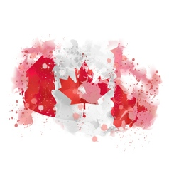 Map canada watercolor paint vector