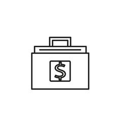money briefcase icon vector image