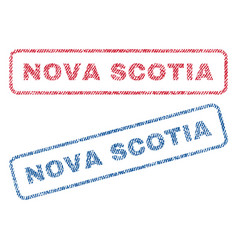 Nova scotia textile stamps vector
