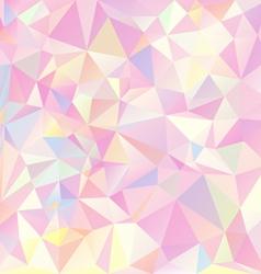 Pink pastel spring polygonal triangular pattern vector