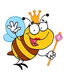 Queen bee cartoon vector image vector image