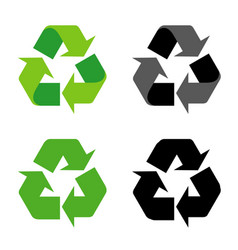 recycle sign icon symbol isolated vector image vector image