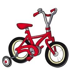 red bike vector image