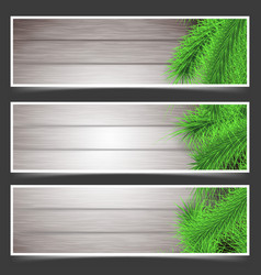 Rustic christmas fir tree flyers collection vector