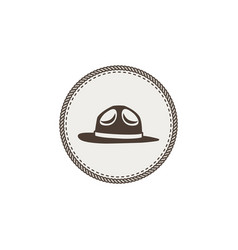 scout hat sticker icon vintage hand drawn vector image