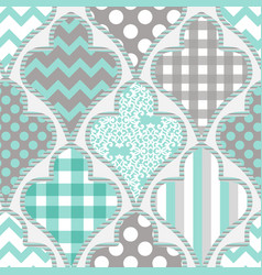 seamless pattern patchwork vector image